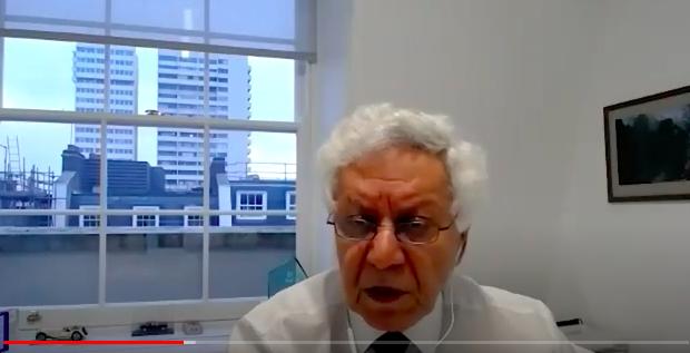 英國獨立「人民法庭」顧問、資深律師薩比(Hamid Sabi)(影片截圖)