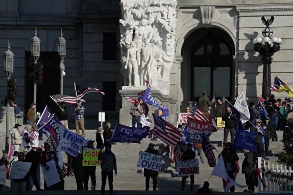 【制止竊選】賓州抗議者:求神相助 奪回美國