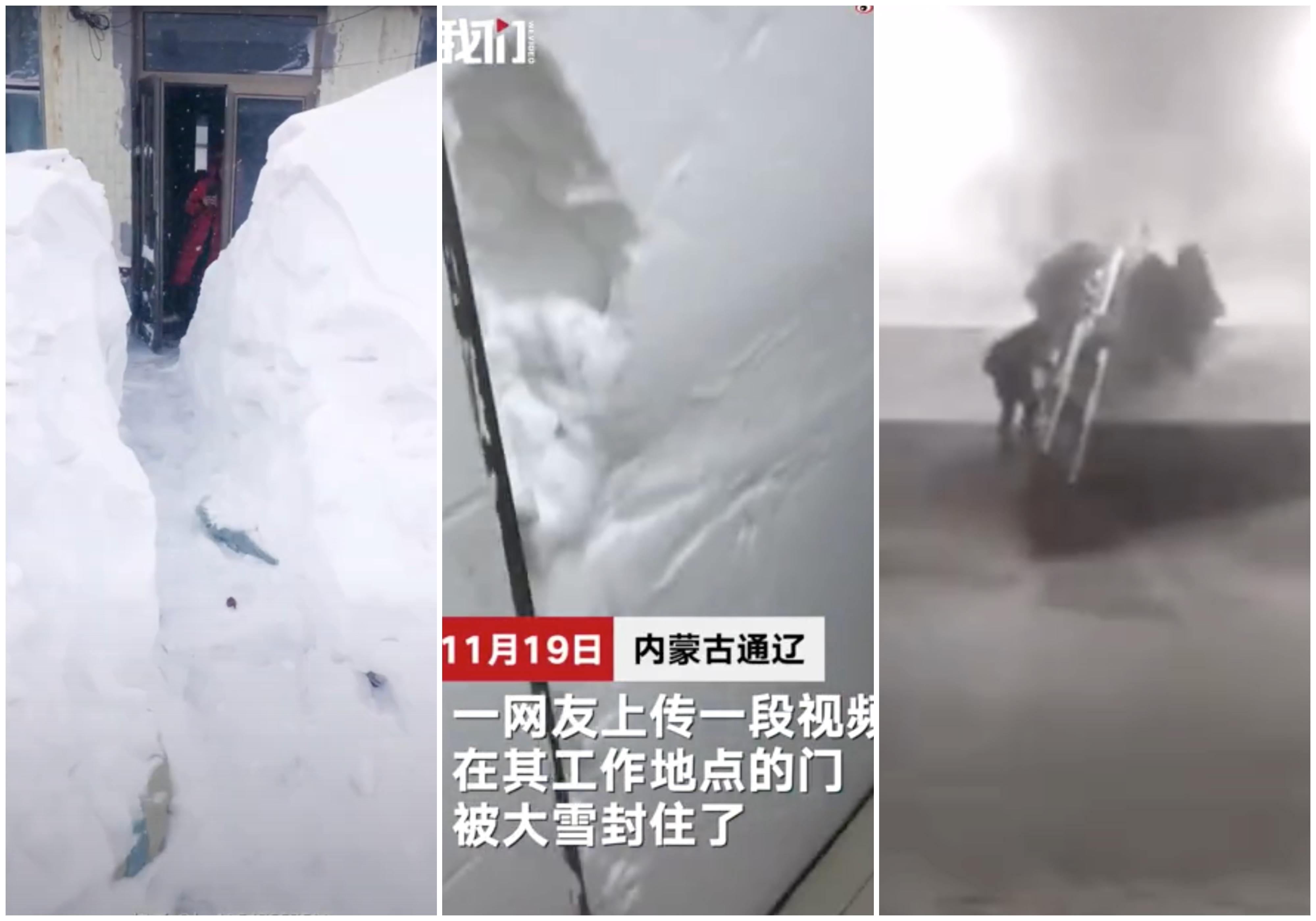 暴雪襲內蒙、東北 列車停運高速關閉