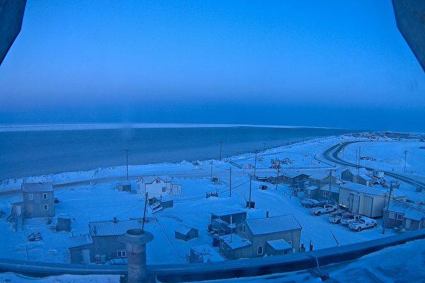 美国最北端城市迎来今年最后一次日落