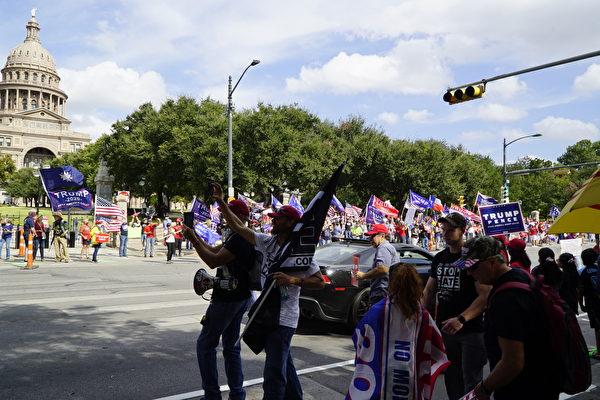 奧斯汀響應「停止竊選」抗議集會 民衆第三週參加