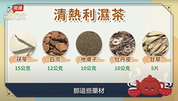 湿疹皮肤干燥多喝水是没啥用的,可以试试喝清热利湿茶。(胡乃文开讲提供)