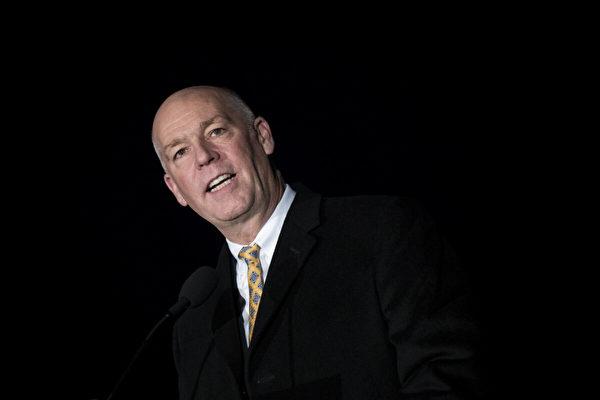 圖為蒙大拿州新任州長格雷格·詹福爾特(Greg Gianforte)。(Drew Angerer/Getty Images)