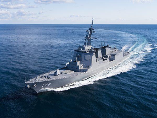 日本的摩耶級驅逐艦首艦摩耶號(JS Maya)。(日本海上自衛隊)