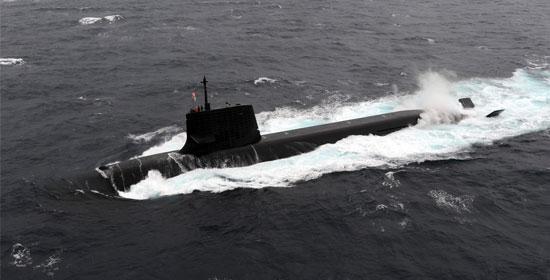 日本的蒼龍級潛艇(Sōryū-class)。(日本海上自衛隊)
