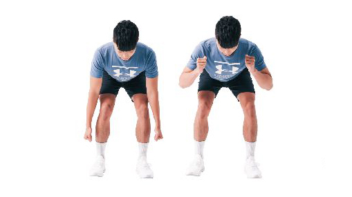 训练姿势的运动:屈体姿。(日日幸福提供)