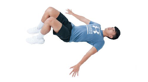 训练姿势的运动:屈膝仰卧姿。(日日幸福提供)
