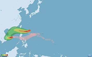 台风闪电西进路线偏北 最快5日清晨发布海警
