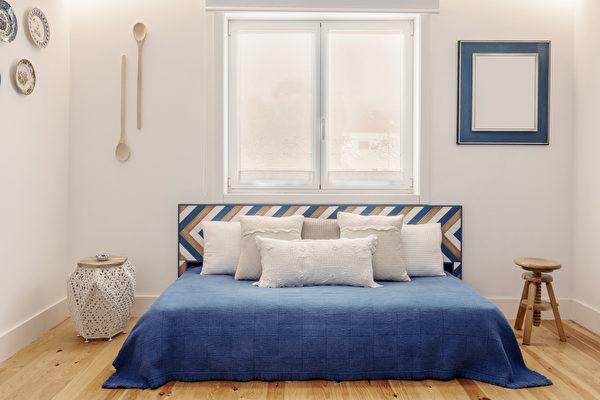 卧房, 卧室, 宽敞, 铁床, 窗户