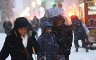 五年來最大冬季風暴襲紐約  戶外用餐停兩天