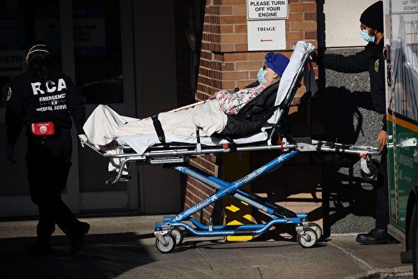 紐約市公立醫院染疫住院人數  遠低於春季高峰