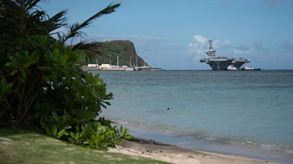 2020年2月7日,罗斯福号航母(CVN 71)抵达关岛,正式部署西太平洋。(美国印太司令部)
