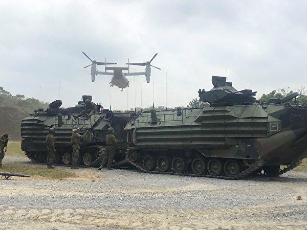3月21日至28日,美国海军陆战队第31远征队实施了从关岛到冲绳的机动兵力投射演习。(美国印太司令部)