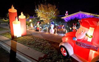 組圖:南加州帕薩迪納民居 聖誕節故事的燈飾