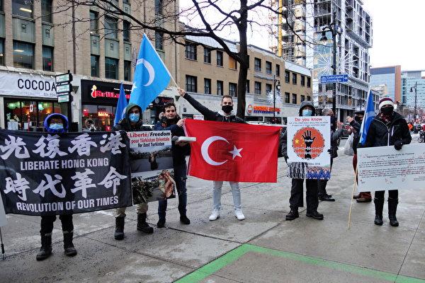 國際人權日 蒙特利爾民眾中領館前抗議