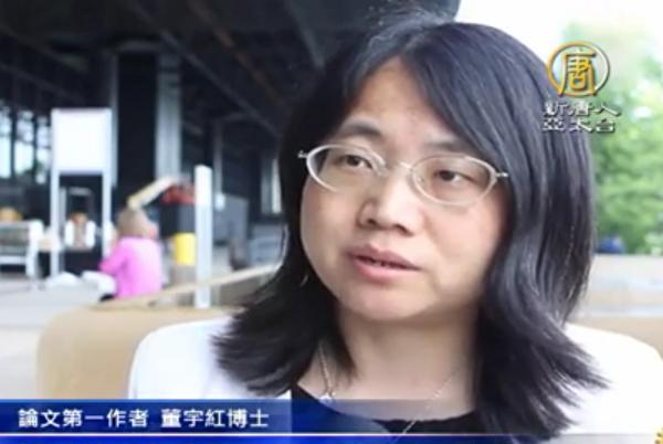 北京大学传染病学医学博士董宇红接受采访。(新唐人电视台)