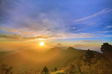 望洋山日出。