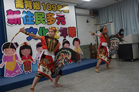 現場除了展示越南美食外,還有精彩的印尼舞蹈表演。