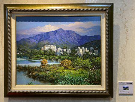 曾胜俊老师的画作《燕子湖我见》。