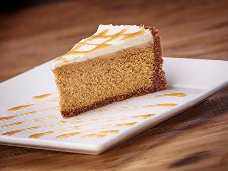 「南瓜起司蛋糕」滋味濃郁。