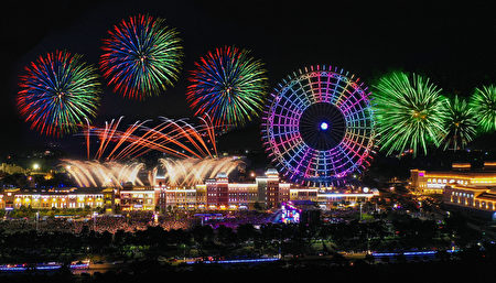 臺中后里麗寶樂園跨年連辦兩天,將施放近6000發煙火,兩場共計十分鐘長度、三大主題。