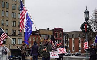 组图:宾州议会大厦前的停止窃选集会