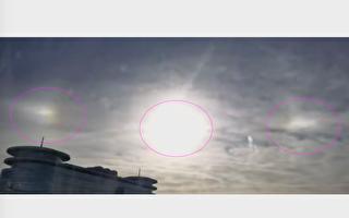 【视频】北京天空现异象 三太阳高悬2小时