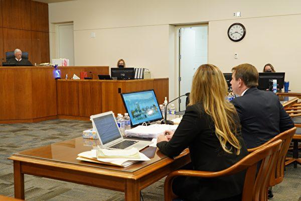 12月3日,內華達州卡森(Carson)市法院舉行大選欺詐聽證會。(宋昇樺/大紀元)