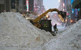 组图:美东遭遇暴风雪 纽约人雪中取乐