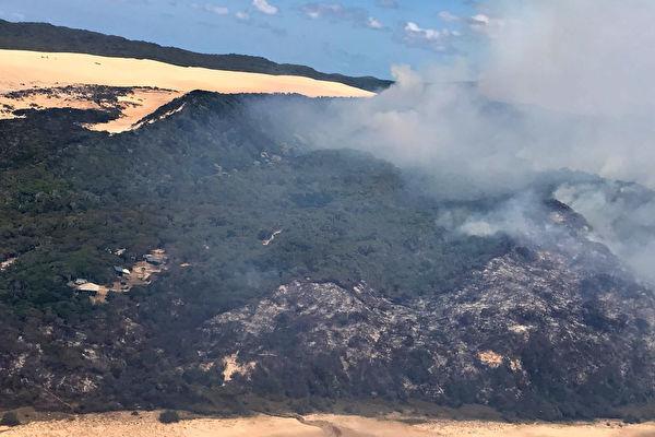昆州弗雷泽岛(Fraser Island)失控山火