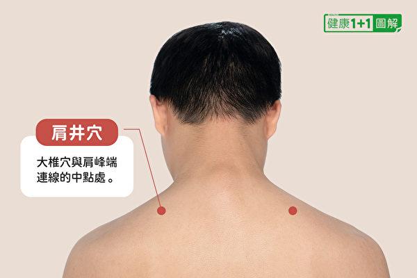 让身体变暖的穴位之:肩井穴。(健康1+1/大纪元)