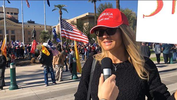 """""""捍卫美国"""" 亚利桑那选民力挺川普到底"""