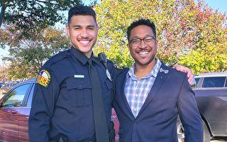 创造历史 德州父子档 一起从警察学院毕业