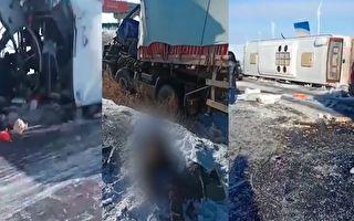 内蒙锡林浩特客车撞上半挂车 致2死31伤