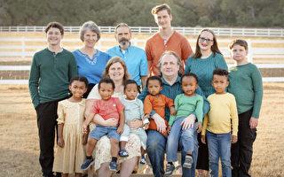 德州夫婦收養六個孩子 家庭成員一天翻倍