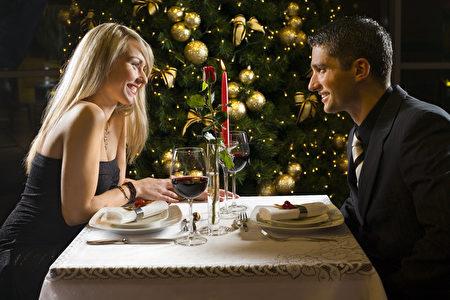 时尚, 圣诞, 约会, 烛光晚餐