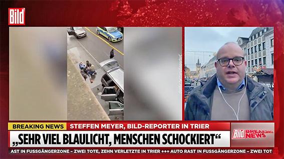 德男驾车撞人 至少二死十余人伤