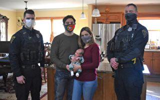 孕妇突发状况打911 美警察协助顺利诞下男婴
