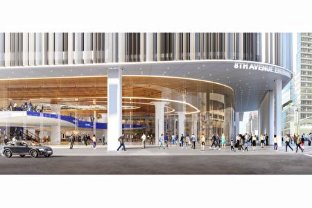 图为曼哈顿中城的纽新航港局客运总站改建后的效果示意图。
