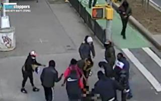 警方釋放監控錄像通緝華埠團伙襲擊凶手