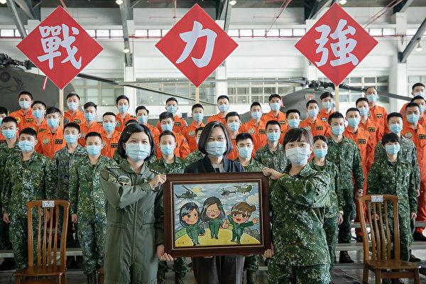蔡英文视导视导南部驻军:给予国军最大支持