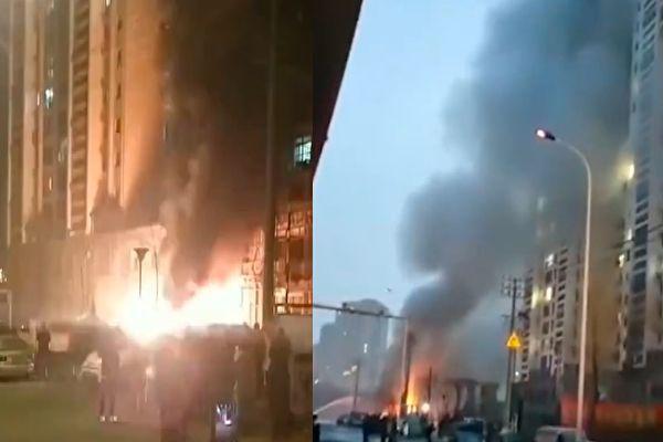 火光伴随爆炸声 大连燃气爆炸3死8伤