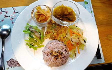 奕青庄园提供的养生套餐,秀色可餐的前菜。