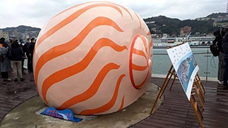 旅客大楼屋顶的装置艺术。