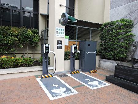 八德区公所快速充电站。