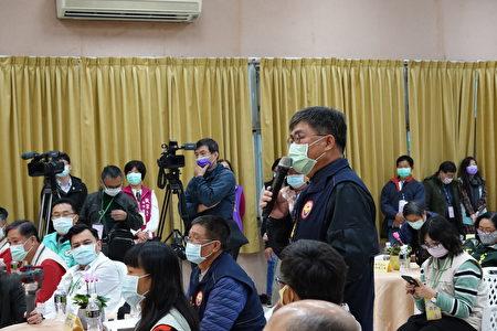 嘉邑行善團理事長徐文志今日也在現場表達對弱勢家庭房屋修繕支持之意。
