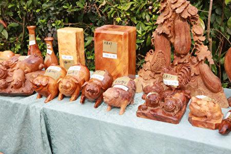 宜蘭地檢署偵辦破獲山老鼠上下游產銷集團,查扣之藝品。