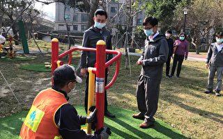 林智堅視察防疫 宣布竹市醫院即日起停止探病