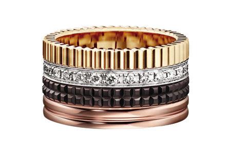 BOUCHERON推出Quartre系列指环,充满浓厚年节气息红金色泽。
