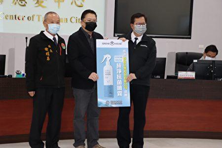 見證靜廬國際企業公司捐贈所產製的這批防疫物質